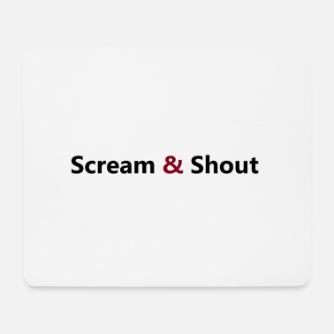 Shouter Scream Shout - Mousepad