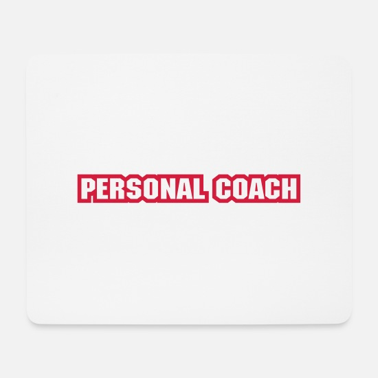 Personal Trainer Mouse Pads - Personal trainer color in action - Mouse Pad white