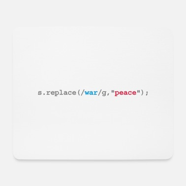 Quote replace war with peace - Mouse Pad