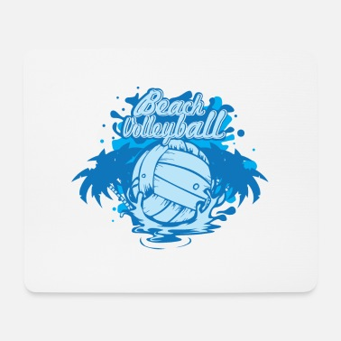 Beach Volley Beach-volley - Tapis de souris (format paysage)