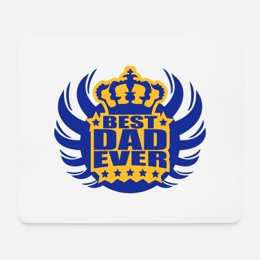 Ever Best King Dad Ever Logo - Tappetino mouse