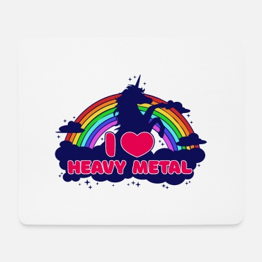Rock Music I love heavy metal unicorn hard rock hard rock - Mouse Pad