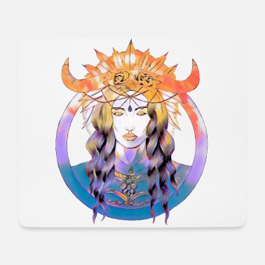 Witch with horns - Mouse Pad