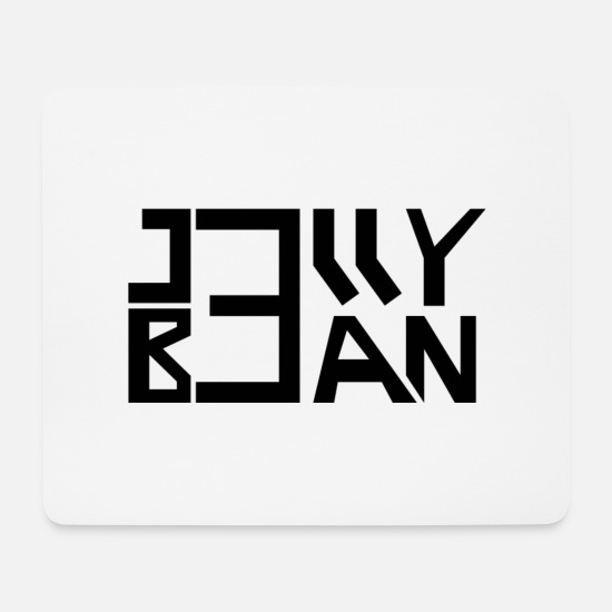 Stylish Mouse Pads - Jelly Bean logo black - Mouse Pad white