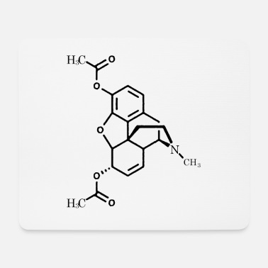 Chemistry of Heroine - Mouse Pad