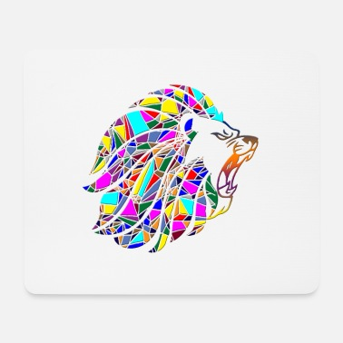 Geometric lion - Mouse Pad