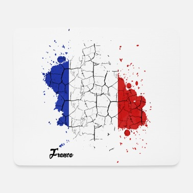 French Republic | Outline color splash gift - Mouse Pad