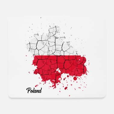 Republic Of Poland Republic of Poland | Outline color splashes gift poles - Mouse Pad