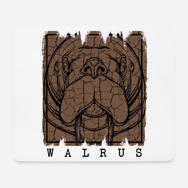 Marine Retrò Vintage Style Walrus Wildlife Gift - Tappetino per mouse (orizzontale)