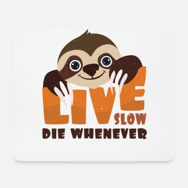 Sloth Live Slow Live Slow | Sloth Statement Typography Gift - Hiirimatto