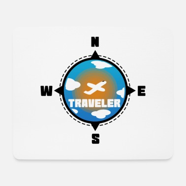 Travel Traveler Traveler | Travel compass - Mouse Pad