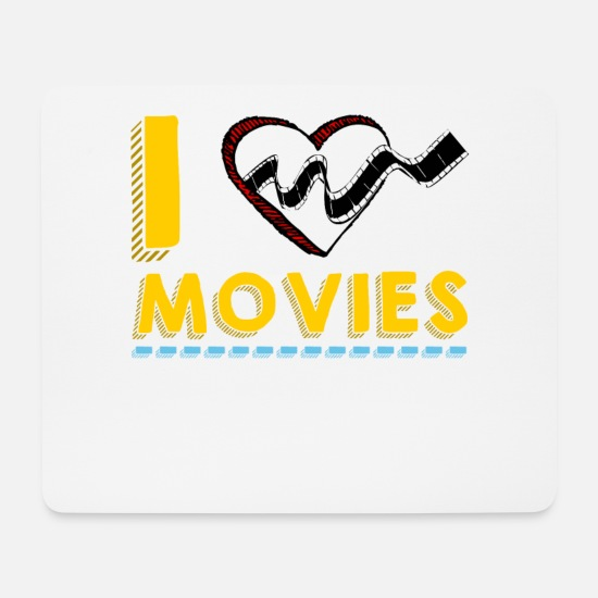 Gift Idea Mouse Pads - I Love Movies Movie Lovers Statement Gift Idea - Mouse Pad white