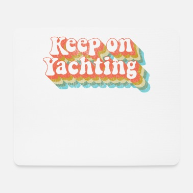 California Vintage Yacht Rock Party Boat Drinking Keep on - Mouse Pad