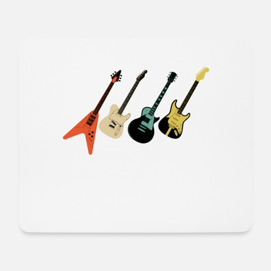 Guitar Player Tapis de souris  - Guitares Vintage - Tapis de souris blanc