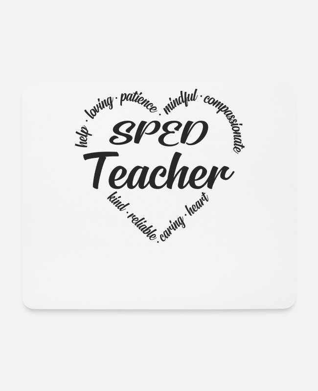 Social Mouse Pads - Special education special education teacher - Mouse Pad white