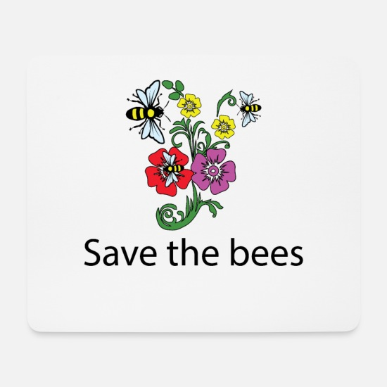 Honey Bee Mouse Pads - Beekeeper Honey Rescues The Bees Honeycomb Dusting - Mouse Pad white