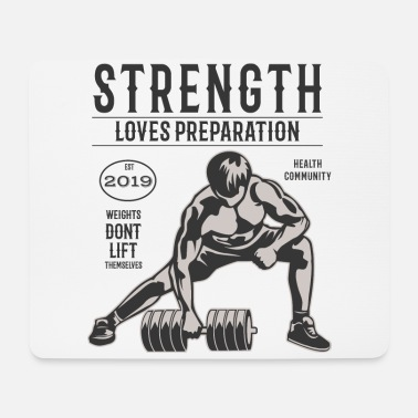 Weights do not lift themselves - Mouse Pad
