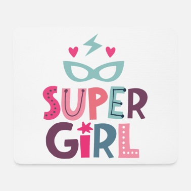 Supergirl Super Girl - strong girl - Mouse Pad