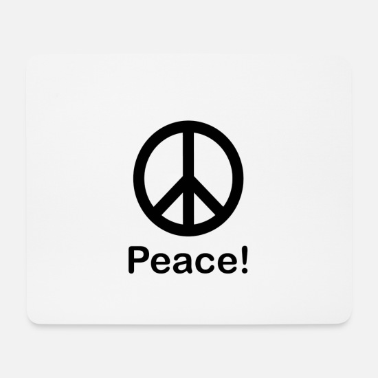 Pigeon Mouse Pads - Peace - Mouse Pad white