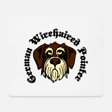 Gwp wirehaired_pointer_face_3c - Mouse Pad