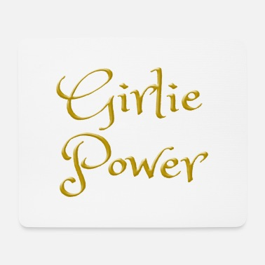 Girlie Girlie Power como idea de regalo para chicas. - Alfombrilla de ratón (horizontal)