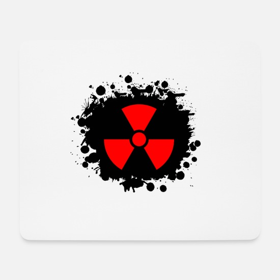 Symbol  Mouse Pads - Red / red Radioactive, radioactivity symbol - Mouse Pad white
