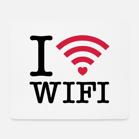 Digital Mouse Pads - I Heart Wifi - Mouse Pad white