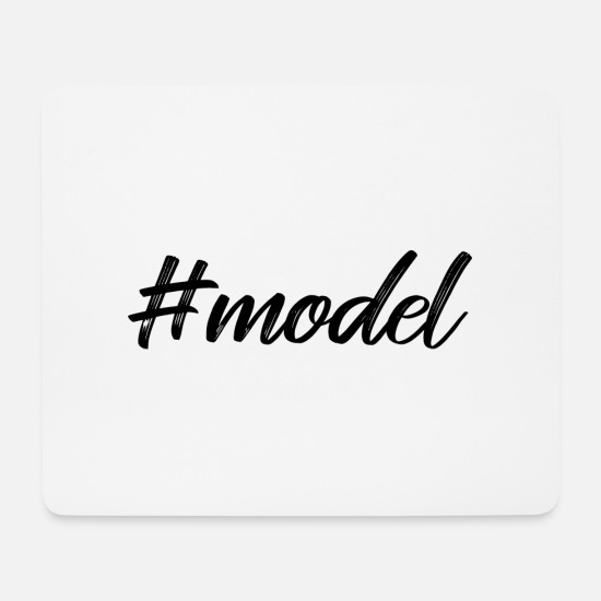 Mode Mousepads  - model hashtag - Mousepad Weiß