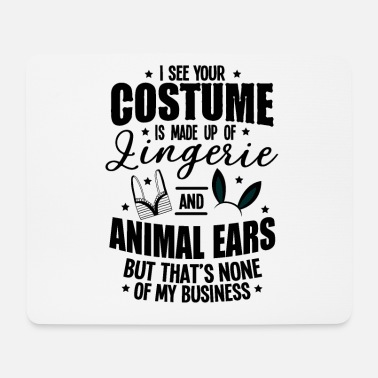 Vampire Underwear Halloween Sexy Ears Underwear Costume Gifts - Mouse Pad