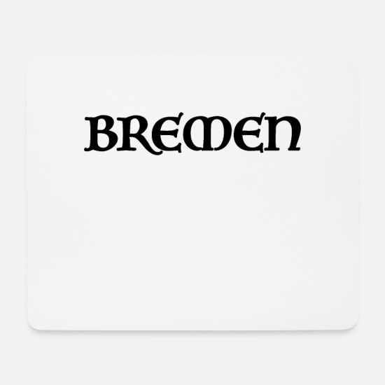Town Hall Mouse Pads - Bremen Old Script - Mouse Pad white