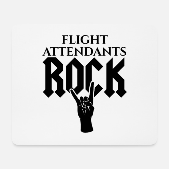 Rock Mouse Pads - Flight attendant flight attendant Rocken - Mouse Pad white