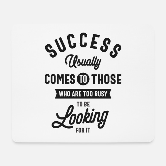 Typography Mouse Pads - Henry David Thoreau. SUCCESS - Mouse Pad white