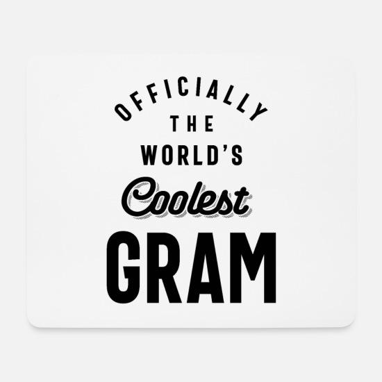 Mother Mouse Pads - Officially The World's Coolest Gram - Mouse Pad white