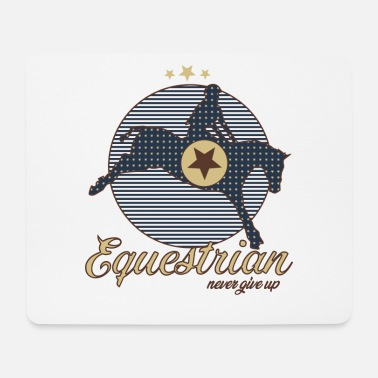 Equestrian Wheel EQUESTRIAN with a horse to ride - Mouse Pad