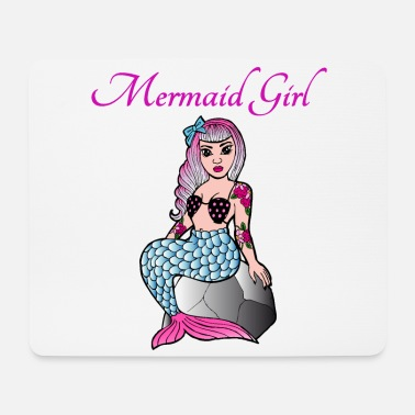 Pin-up Pin Up Mermaid Rockabilly Gift Girl - Tappetino mouse