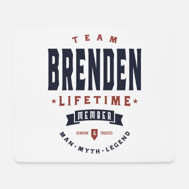 Teeth Brenden Personalized Name Birthday Gift - Mouse Pad