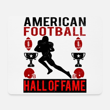 Hall Of Fame American Football Hall of Fame logo red - Mouse Pad