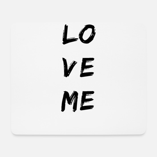Hanover Mouse Pads - LOVEME sign squares - Mouse Pad white