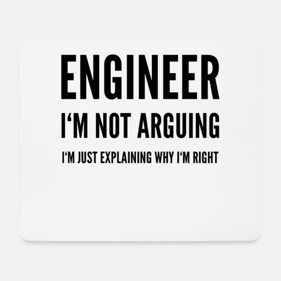 Gift Idea Mouse Pads - engineer - Mouse Pad white