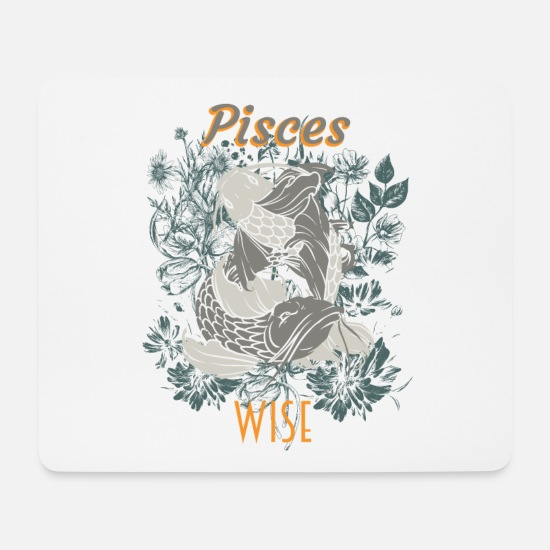 Birthday Mouse Pads - Pisces zodiac - Mouse Pad white