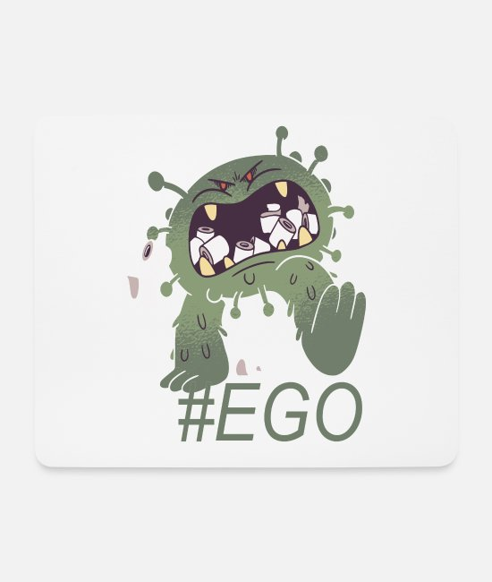 Egoist Mouse Pads - EGO toilet paper and toilet paper selfish - Mouse Pad white