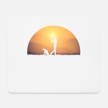 Golf Swing Golf swing Golf round at sunrise - Mouse Pad