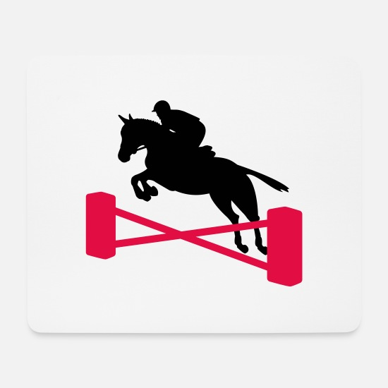 Show Jumping Mouse Pads - show jumping - Mouse Pad white