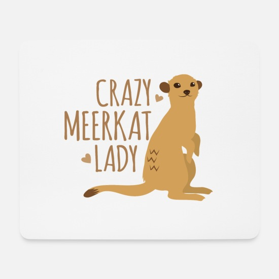Wife Mouse Pads - crazy meerkat lady - Mouse Pad white