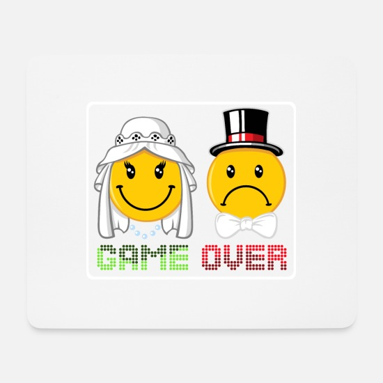 Game Over Tapis de souris  - Game over - Tapis de souris blanc