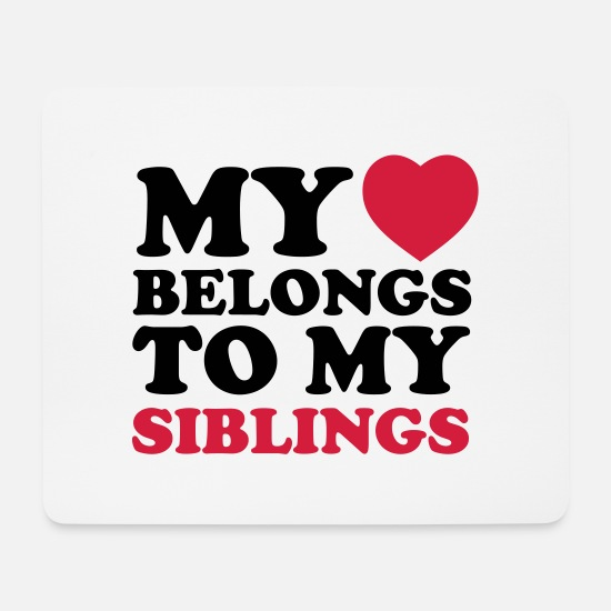 Siblings Mouse Pads - MHBTM siblings - Mouse Pad white