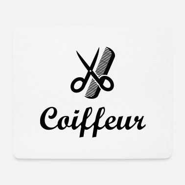 Coiffure / Coiffeur / Coiffeuse / Mode / Cheveux - Mouse Pad