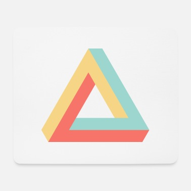 colorful Penrose triangle - Mouse Pad