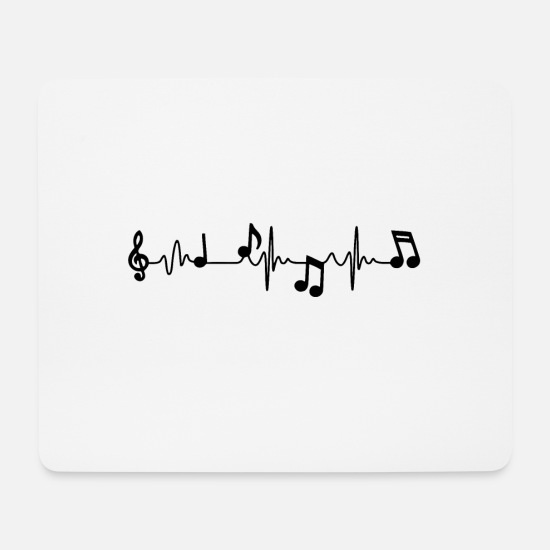 Music Mouse Pads - Music beat - Mouse Pad white