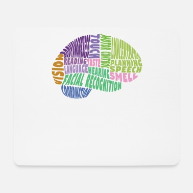 Region The regions of the brain - Mouse Pad